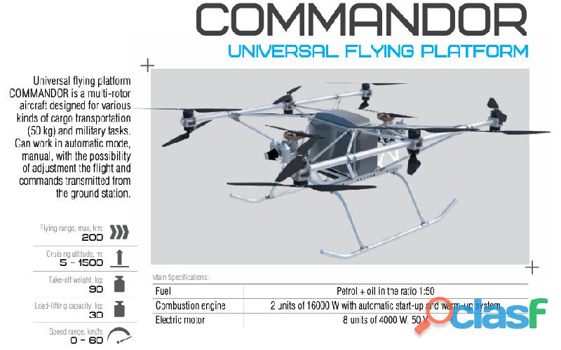 Se venden aeronaves ligeras, de entreno y drones.