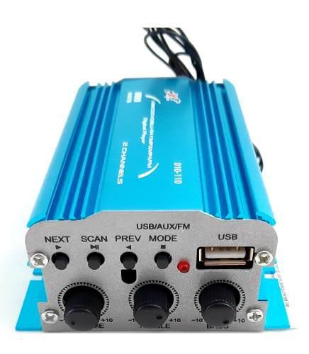 Amplificador 2 canales 800 watts fm usb aux dxr 010-110