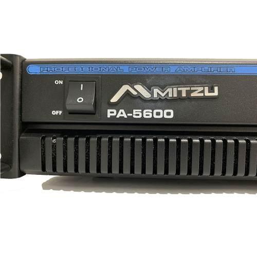 Amplificador de sonido profesional pa-5600 tipo qsc mitzu
