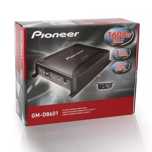 AMPLIFICADOR FUENTE PIONEER GM-D8601 CLASE D 1600W CONTROL B segunda mano  México (Todas las ciudades)