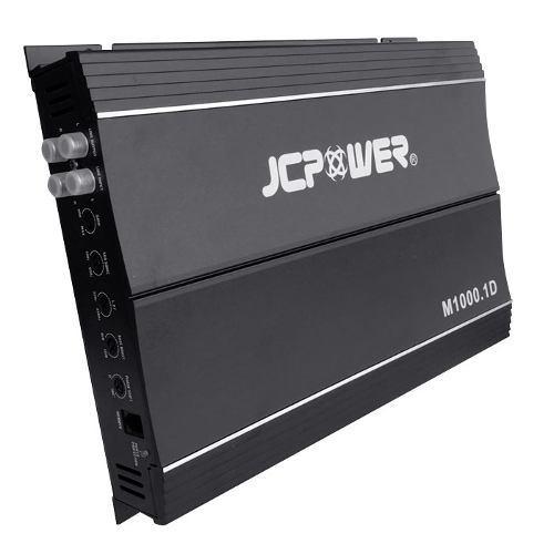 Amplificador jc power m1000.1d 1000w max 1 canal clase d
