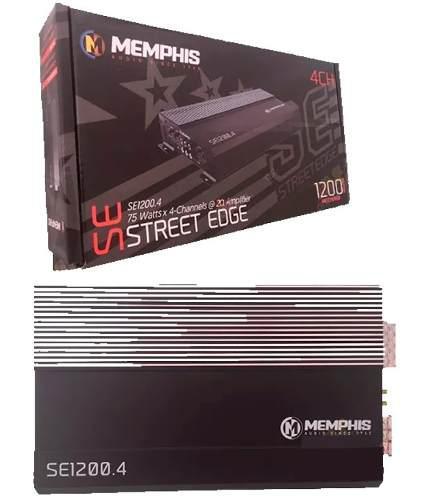 Amplificador memphis se1200.4 1200w max 75w rms 4 canales