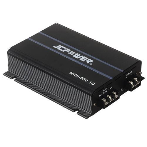 Amplificador para woofers jc power mini 500.1d 1000 watts