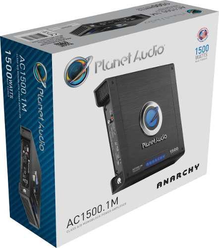 Amplificador planet audio ac1500.1m monoblock 1500w