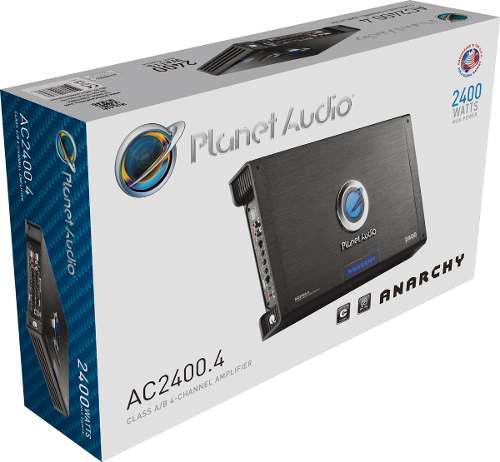 AMPLIFICADOR PLANET AUDIO AC2400.4 ANARCHY 4 CANALES VOZ MSI segunda mano  México (Todas las ciudades)