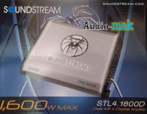 AMPLIFICADOR SOUNDSTREAM STL4.1600D 4 CANALES 1600 WATTS segunda mano  México (Todas las ciudades)