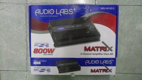 Audio labs amplificador 2 canales 300 rms 2 y 4 ohms clas ab
