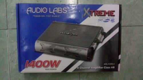 AUDIO LABS AMPLIFICADOR 4 CANALES 1400 WHATTS 150 RMS 2 OHMS segunda mano  México (Todas las ciudades)