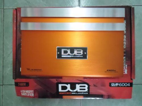 Dub ampilficador 4 canales 2400 whatts clase ab 6004
