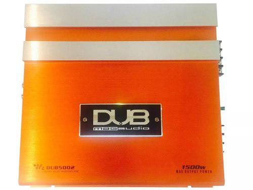 Fuente amplificador dub audiobahn 2 canales 1500 watts