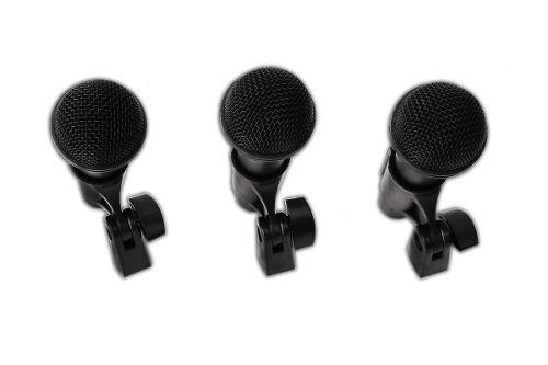Pack d 3 micrófonos p/ tus instrumentos musicales + maletin