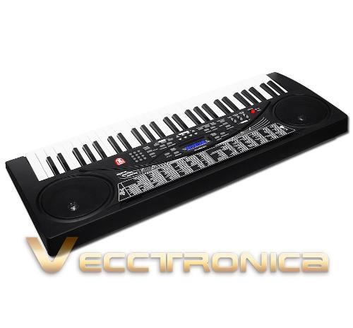 Paquete especial: base + teclado musical 54 teclas increibl