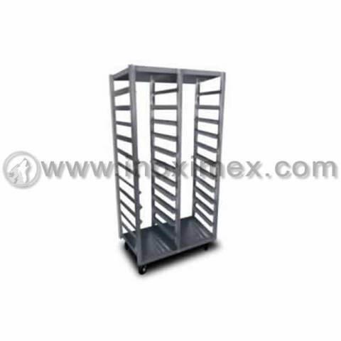 Carro rack de dos columnas en acero inoxidable