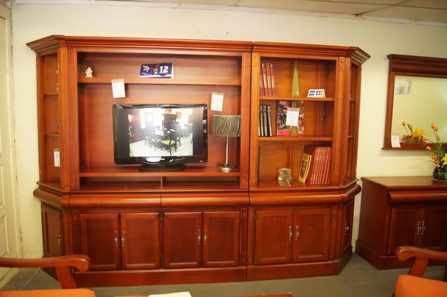 Centro de entretenimiento 1 librero casa bonita muebles