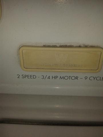 Lavadora y secadora white westinghouse en juego