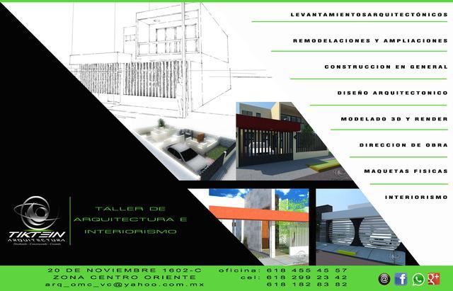 """Servicio de arquitectos """"tiktein arquitectura"""" durango"""