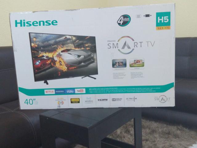 "Smart tv hisense led 40"" modelo 40h5b 4 años de garantia"