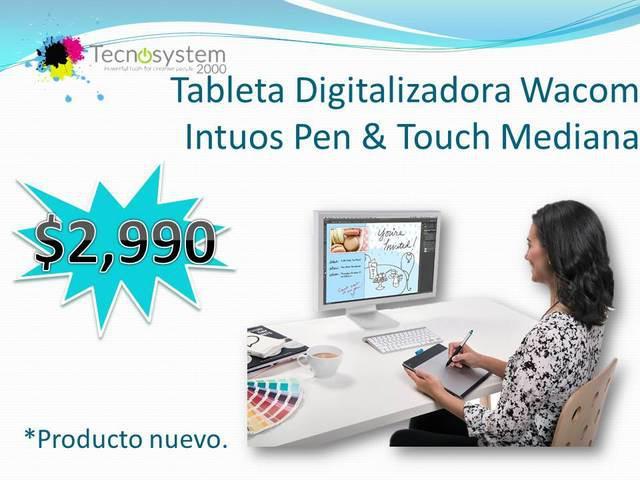 TABLETA DIGITALIZADORA WACOM INTUOS PEN & TOUCH MEDIANA, usado segunda mano  Guadalajara (Jalisco)