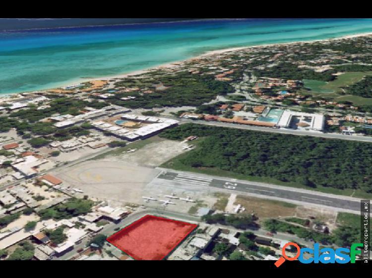 Venta terreno en av. aviación, playa del carmen