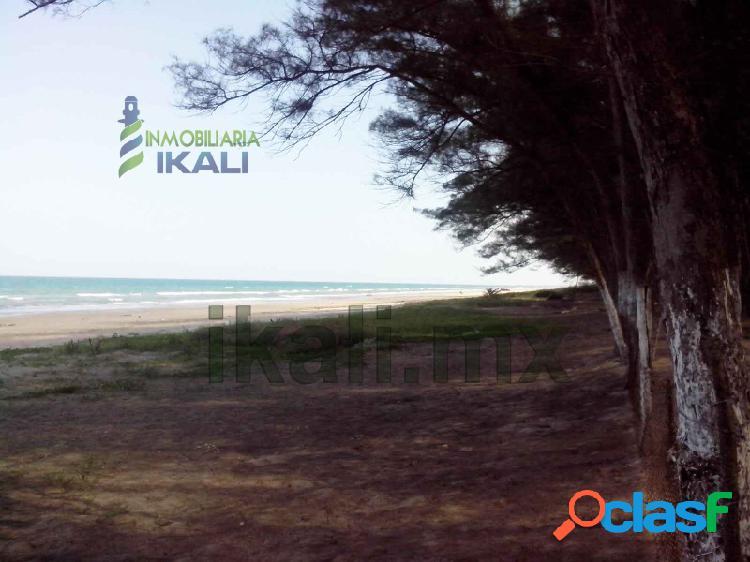 Venta terreno 1 hectárea frente mar playa tuxpan veracruz, la barra