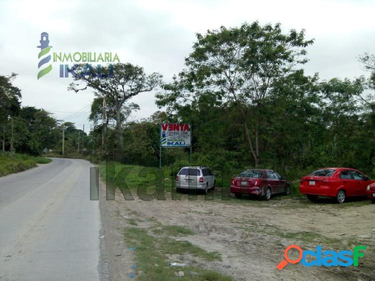 Venta terreno 10200 m² carretera cobos tuxpan veracruz, la victoria