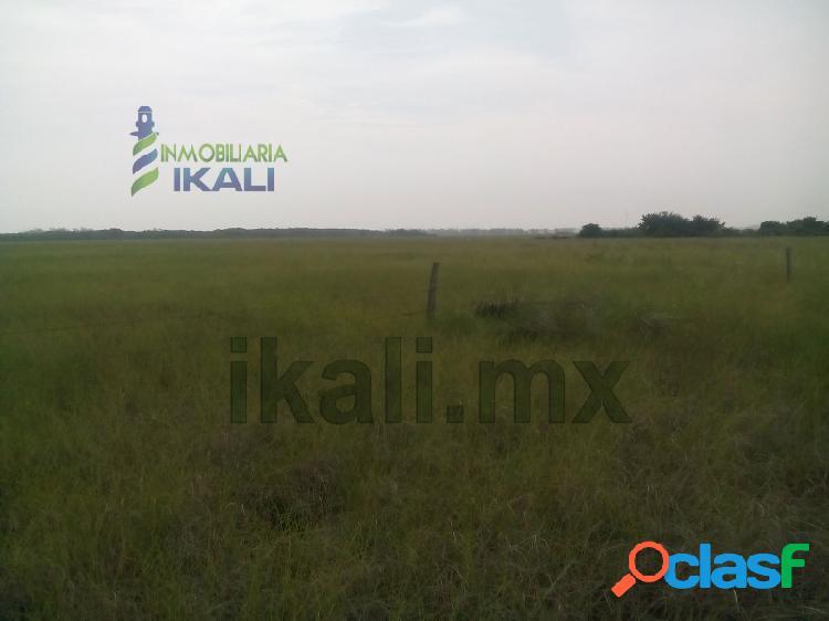 Venta terreno 10.85 hectáreas frente laguna tampamachoco tuxpan veracruz, petrolera