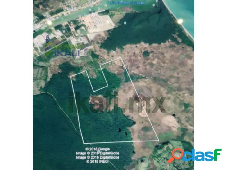 Venta terreno 358 hectáreas en zona industrial de tuxpan veracruz., corredor industrial