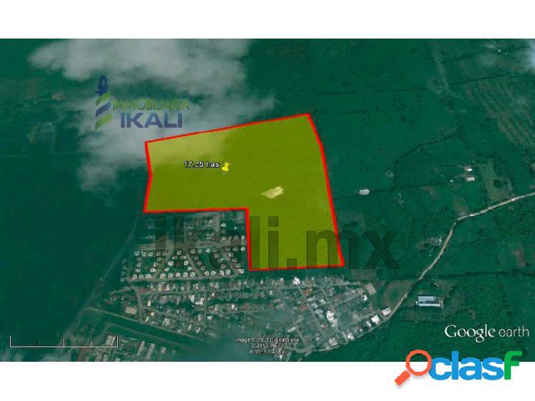 Venta terreno 17 hectáreas salida tamiahua tuxpan veracruz, 23 de noviembre