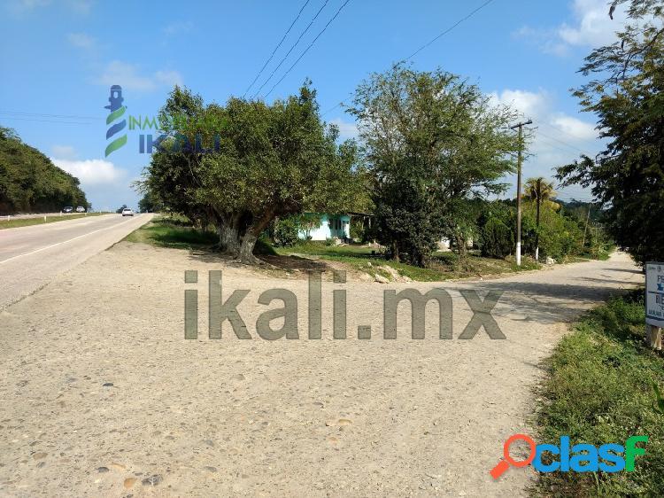 Venta terreno con construccion en autopista tuxpan veracruz - poza rica, ceiba rica