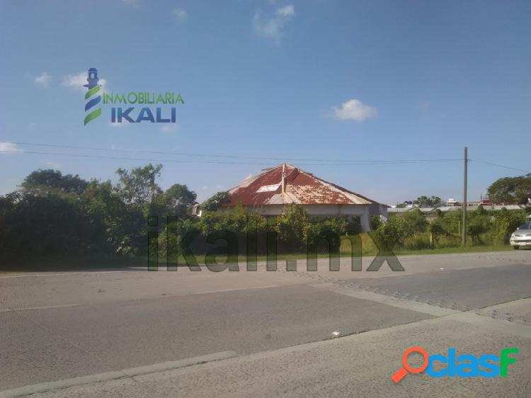 Terreno comercial tuxpan ver, renta 3,602 m² santiago de la peña, santiago de la peña