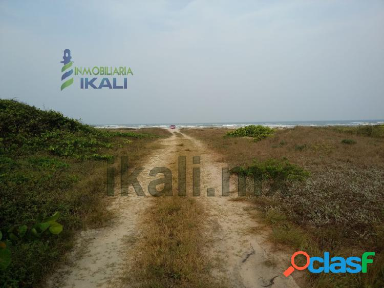 Venta terreno 100 hectáreas en la playa tamiahua veracruz, tantalamos