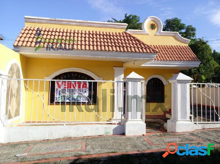Casa venta un piso 3 rec. col. anahuac poza rica veracruz, anáhuac