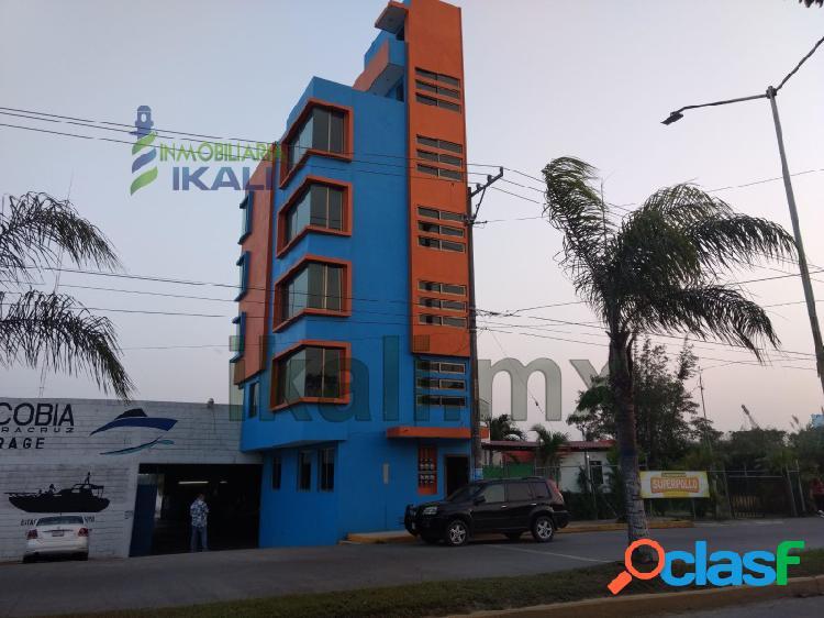 Renta departamento amueblado 1 recamara frente al río tuxpan veracruz, la calzada