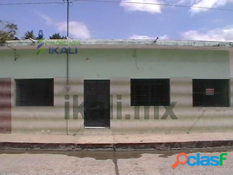 Venta de casas en tuxpan veracruz de 2 rec. col. azteca 2 rec., azteca