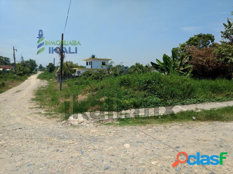 Venta terreno en esquina 500 m² col. villa rosita tuxpan veracruz, villa rosita