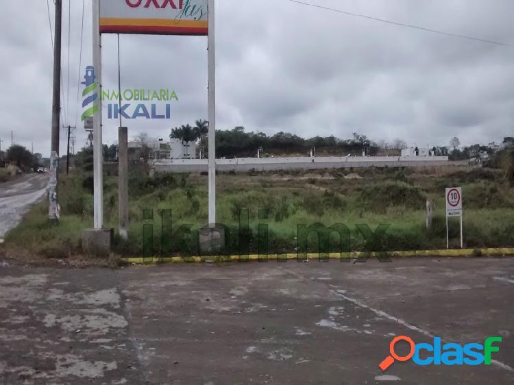 Renta terreno comercial tuxpan 1000 m² sobre el libramiento, villa rosita i