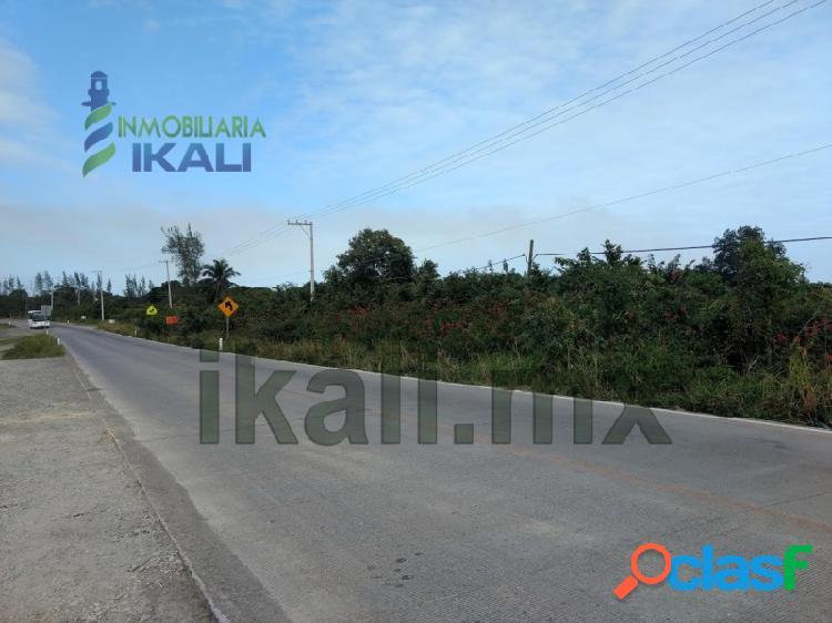 Vendo terreno 6 hectáreas carretera tuxpan tamiahua veracruz, banderas