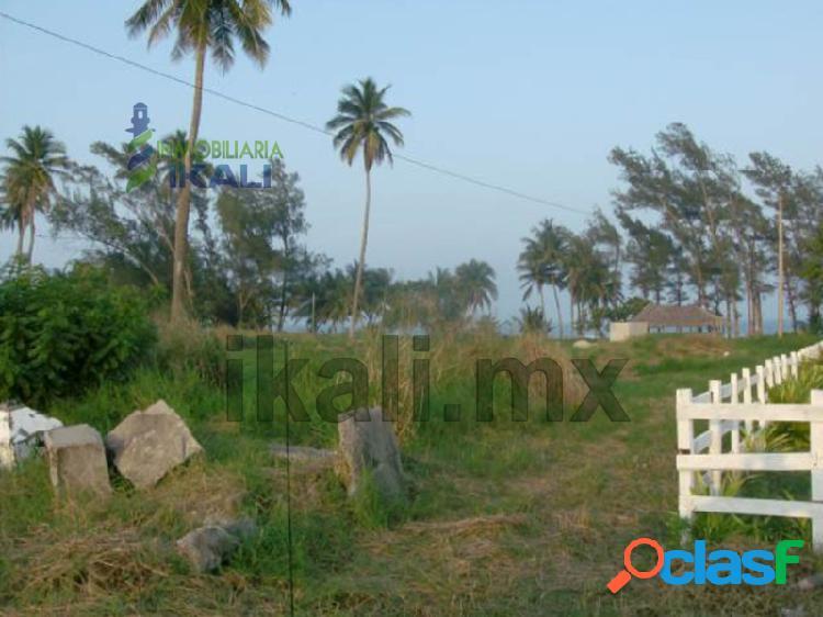 Venta de terrenos en la playa de tuxpan veracruz, 1.4 has, la barra norte