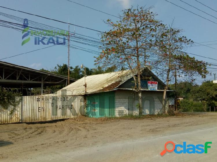 Renta nave industrial esquina 1500 m² Tuxpan Veracruz, La Victoria 1