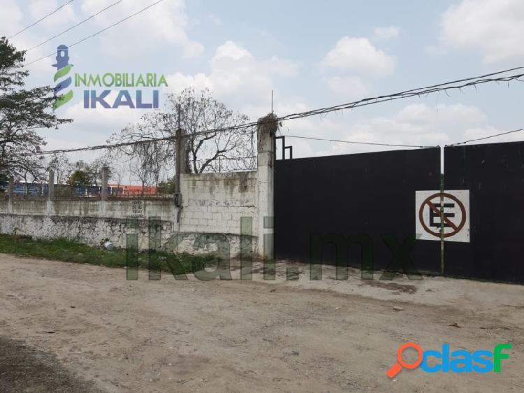 Renta terreno 13,000 con oficinas bodega col. tepeyac poza rica veracruz, tepeyac