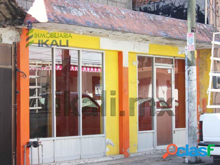 Renta local comercial 110 m² colonia centro de tuxpan veracruz, tuxpan de rodriguez cano centro