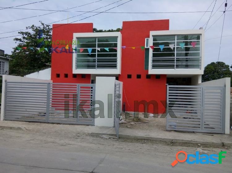Casa nueva en venta tuxpan ver. el esquina 3 rec. 2 pisos col. ruiz cortines, ruiz cortínez