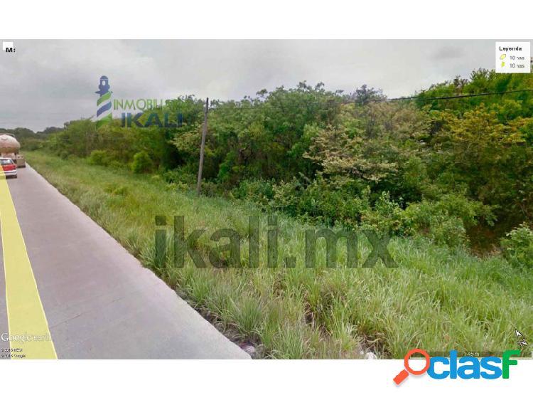 Venta terreno 10 hectáreas carretera tuxpan - tamiahua veracruz, banderas