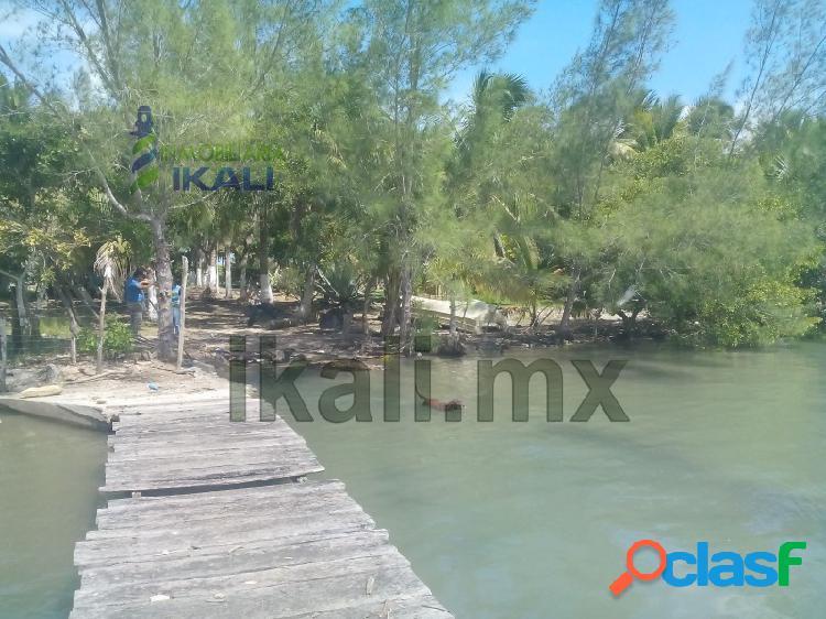 Venta terreno 2,800 m² frente laguna tampamachoco tuxpan veracruz, petrolera