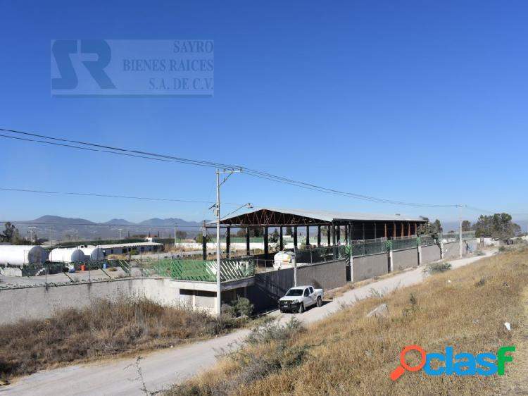 Terreno industrial y de servicios en venta en san juan del río queretaro sobre carretera federal 57, el rodeo