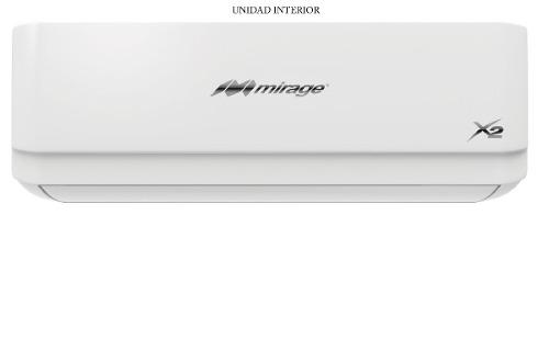 Aire acondicionado mini split mirage x2 frio/calor 220v 1ton