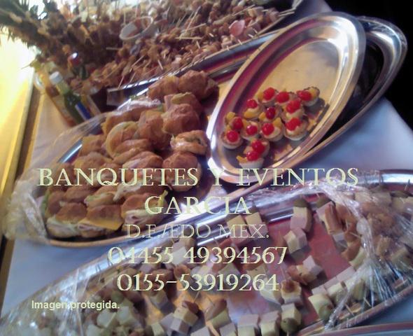 Banquetes coctel buffet bocadillos