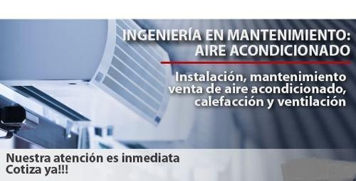 Instalacion, mantenimiento, venta de aire acondionado