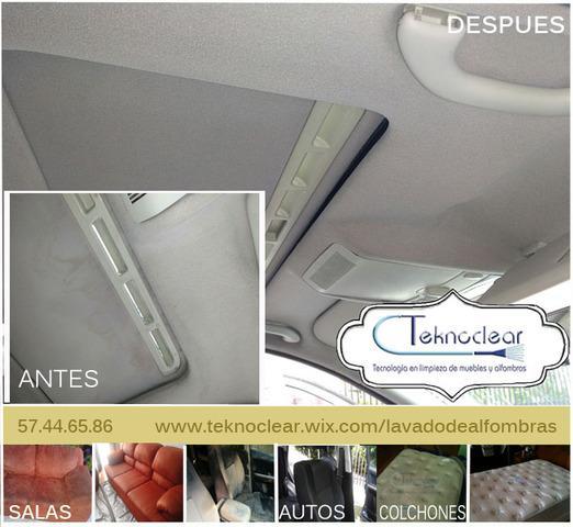 Lavado de vestiduras y alfombra de interiores de auto.