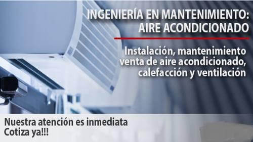 Mantenimiento en equipos de aire acondicionado mini split